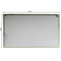 Yokudo雅谷PET磁性白板隐形暗格书写黑板商务会议教学培训白板100*200cm